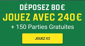 Le site des paris sportifs vous offre jusqu'à 200% de bonus pour jouer aux machines à sous.